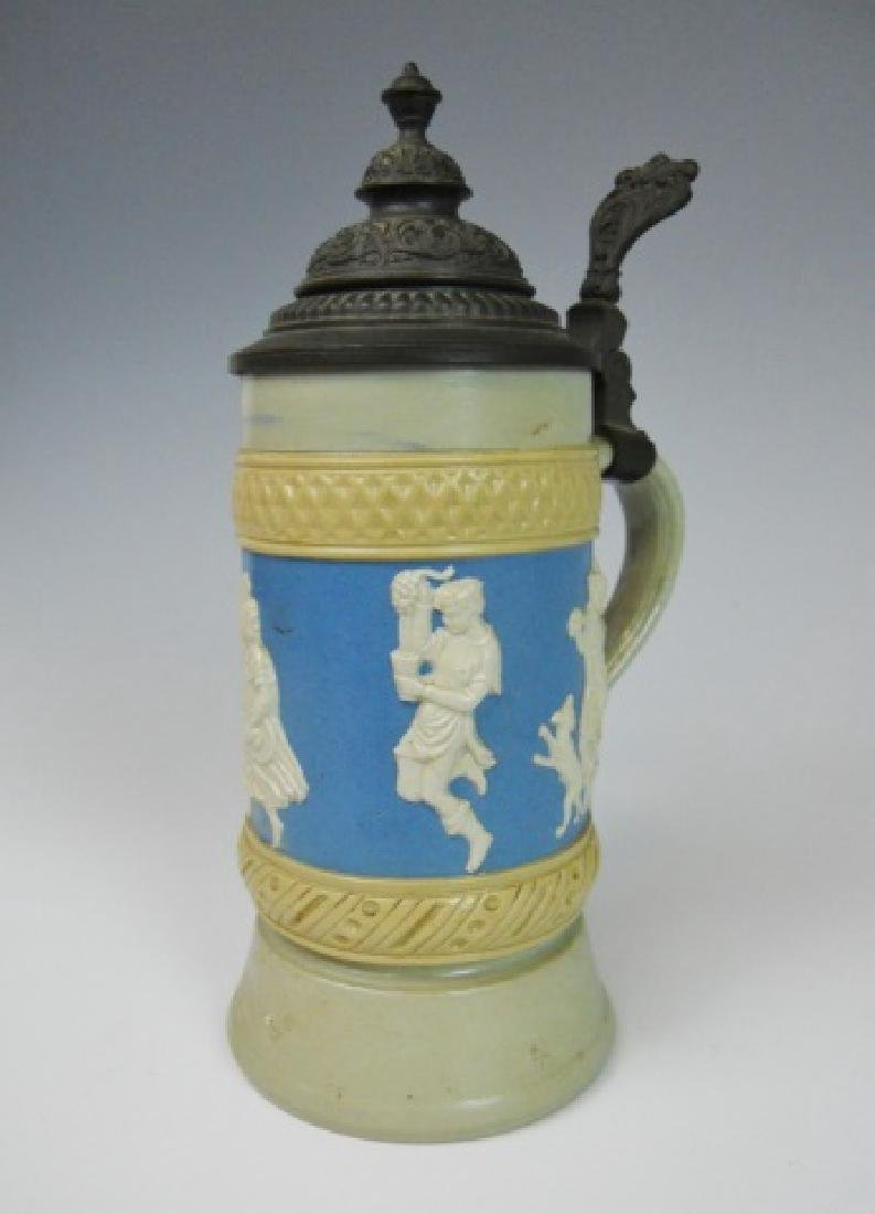 19th C. German Mettlach Stein, Villeroy & Boch