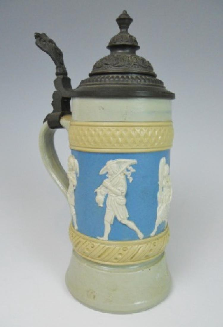 19th C. German Mettlach Stein, Villeroy & Boch - 2