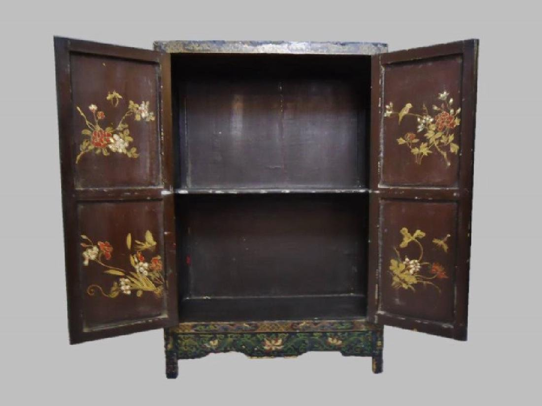 19th C. Chinese Painted Cabinet - 5