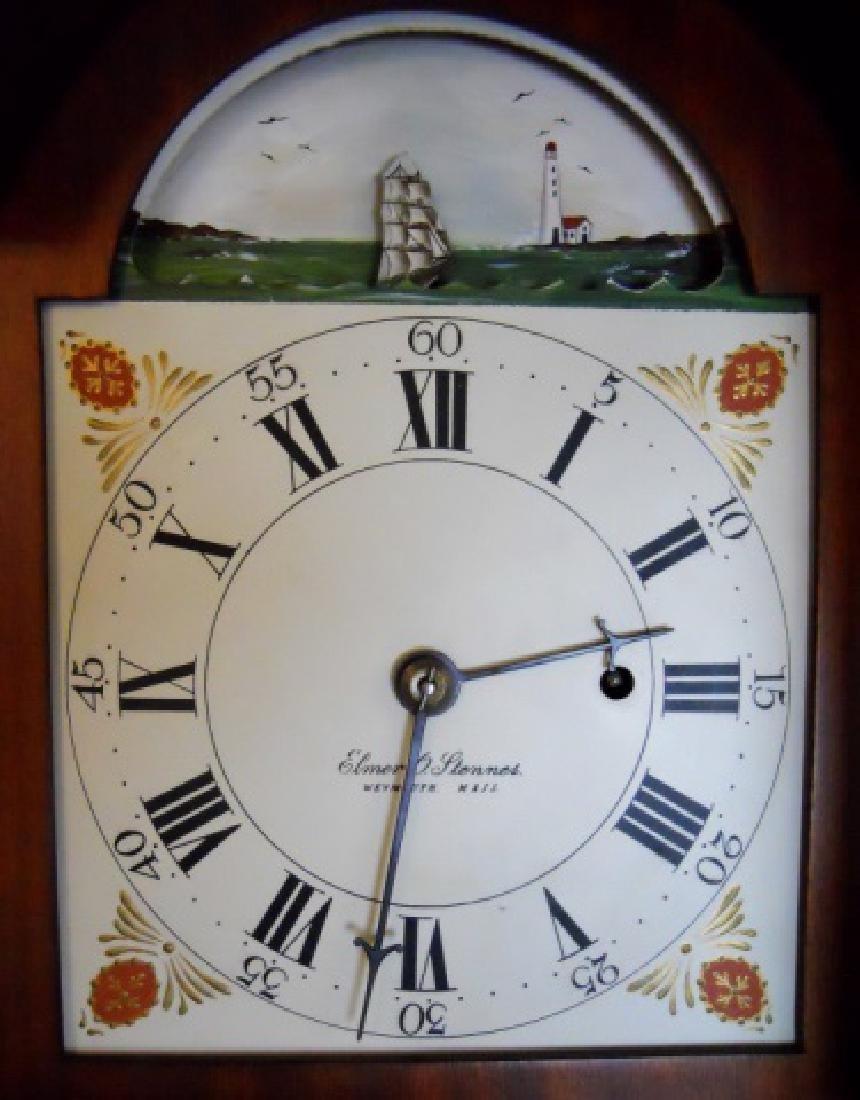 Mahogany Cased Dwarf Clock , Elmer O. Stennes - 5