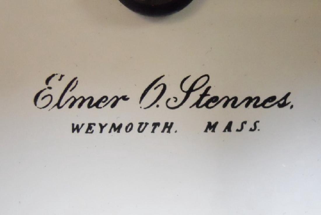Mahogany Cased Dwarf Clock , Elmer O. Stennes - 7