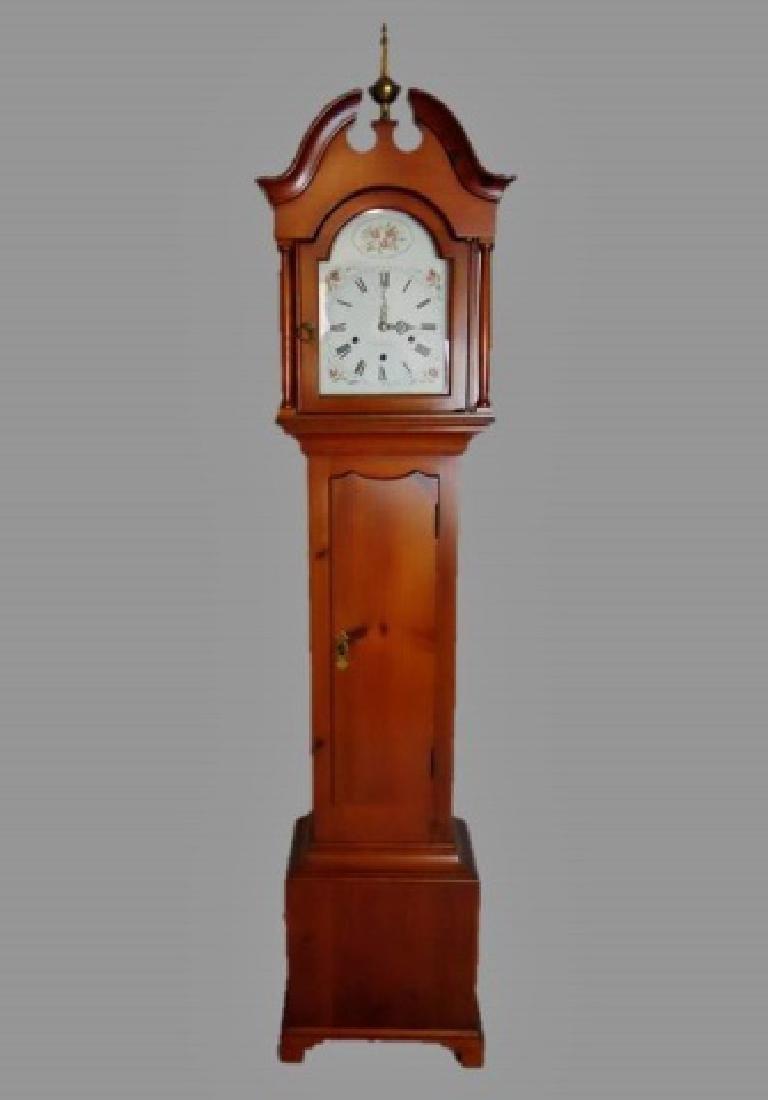 Dwarf Pine Case Tall Clock, Elmer O. Stennes