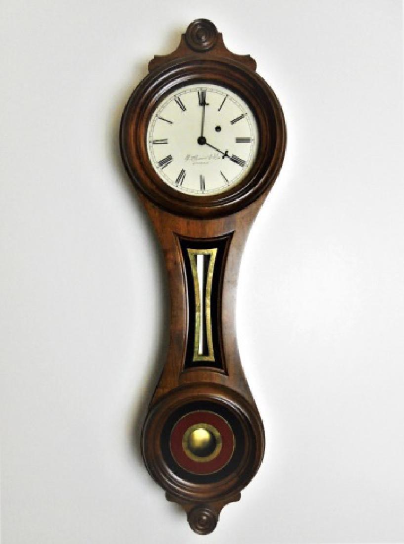 Walnut Figure Eight Wall Clock, E. Howard, Boston