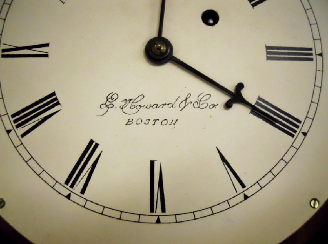 Walnut Figure Eight Wall Clock, E. Howard, Boston - 4