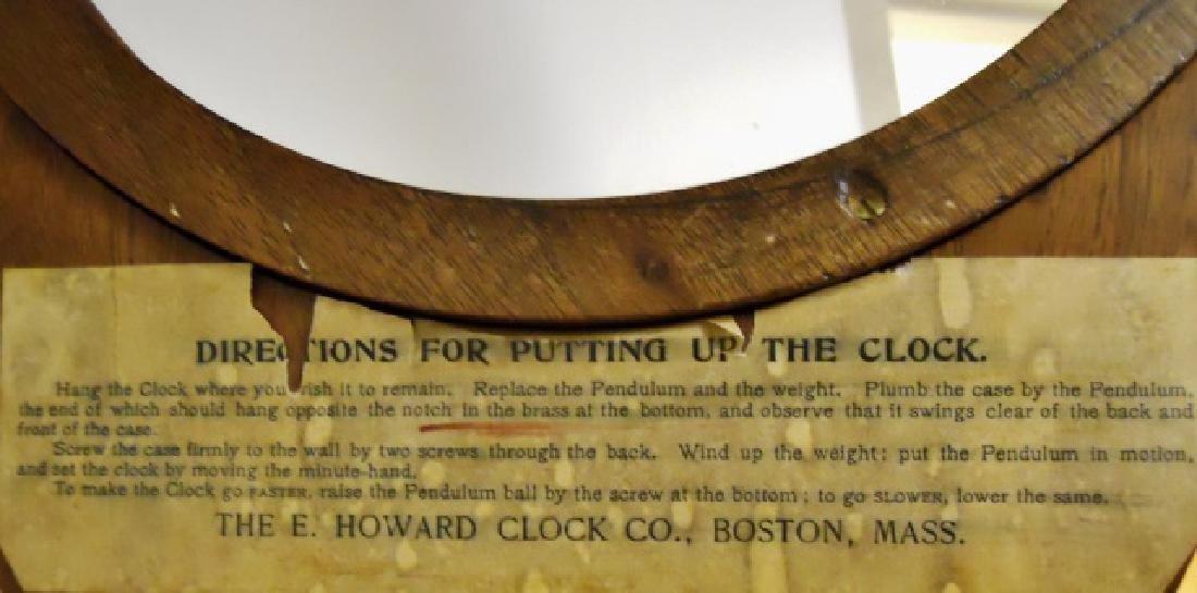 Walnut Figure Eight Wall Clock, E. Howard, Boston - 5