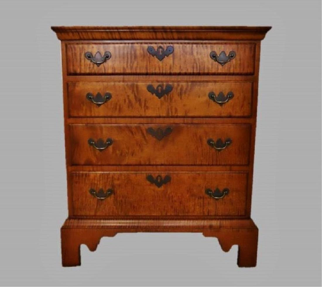 Contemporary Tiger Maple Chest, Eldred Wheeler