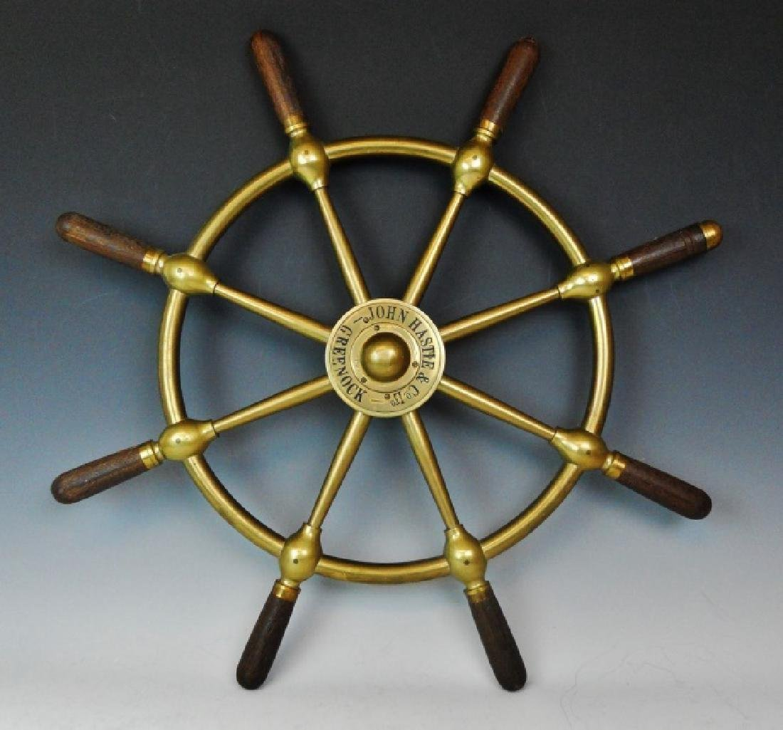 Brass Ship's Wheel, John Hastie, Greenock