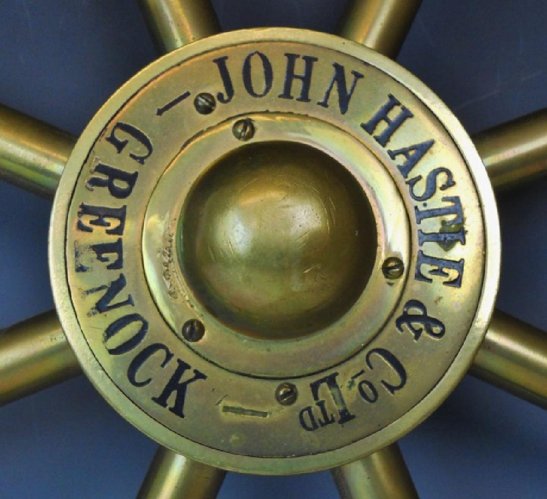 Brass Ship's Wheel, John Hastie, Greenock - 2