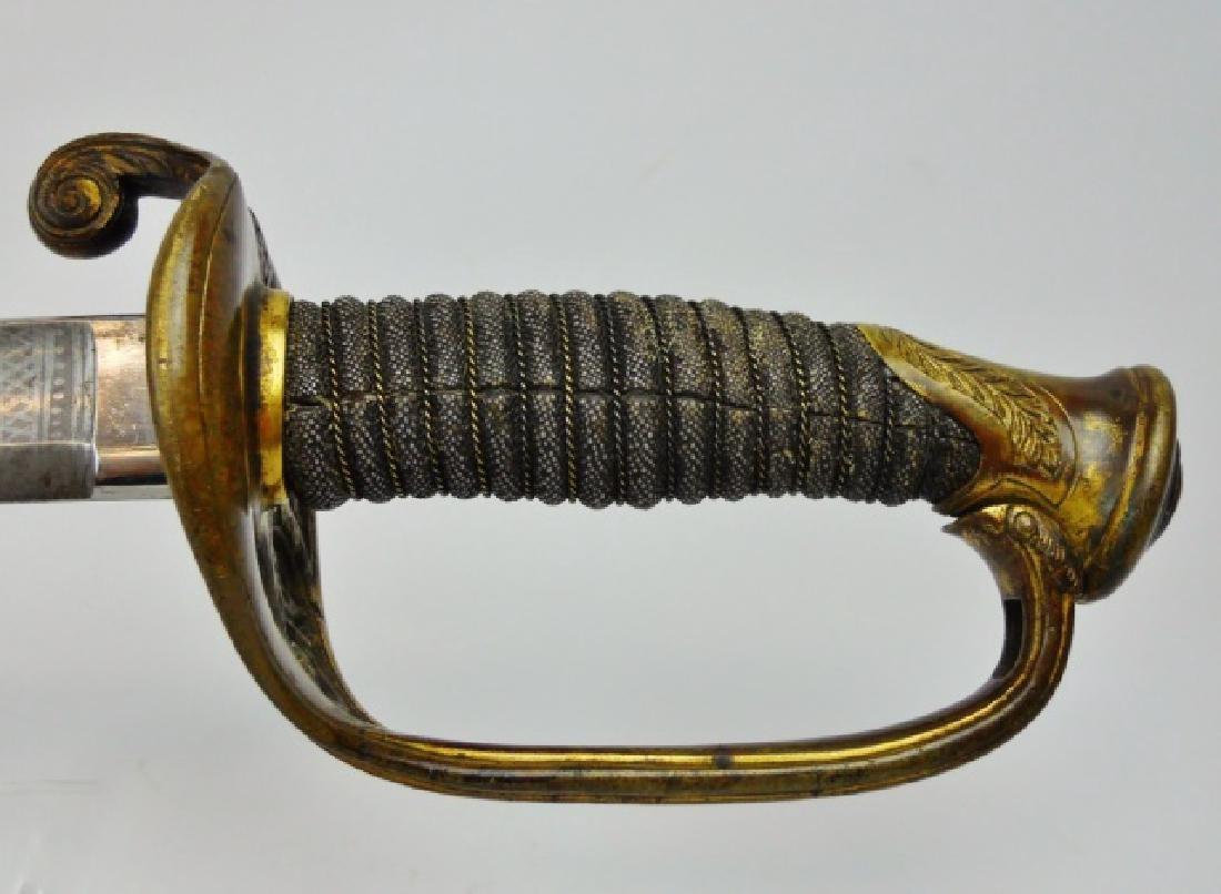 Civil War Foot Officer Sword, Presentation,19th ME - 5