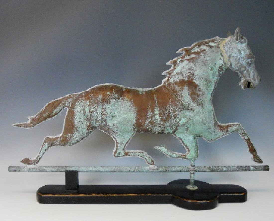 19th C. Copper and Zinc Running Horse Weathervane