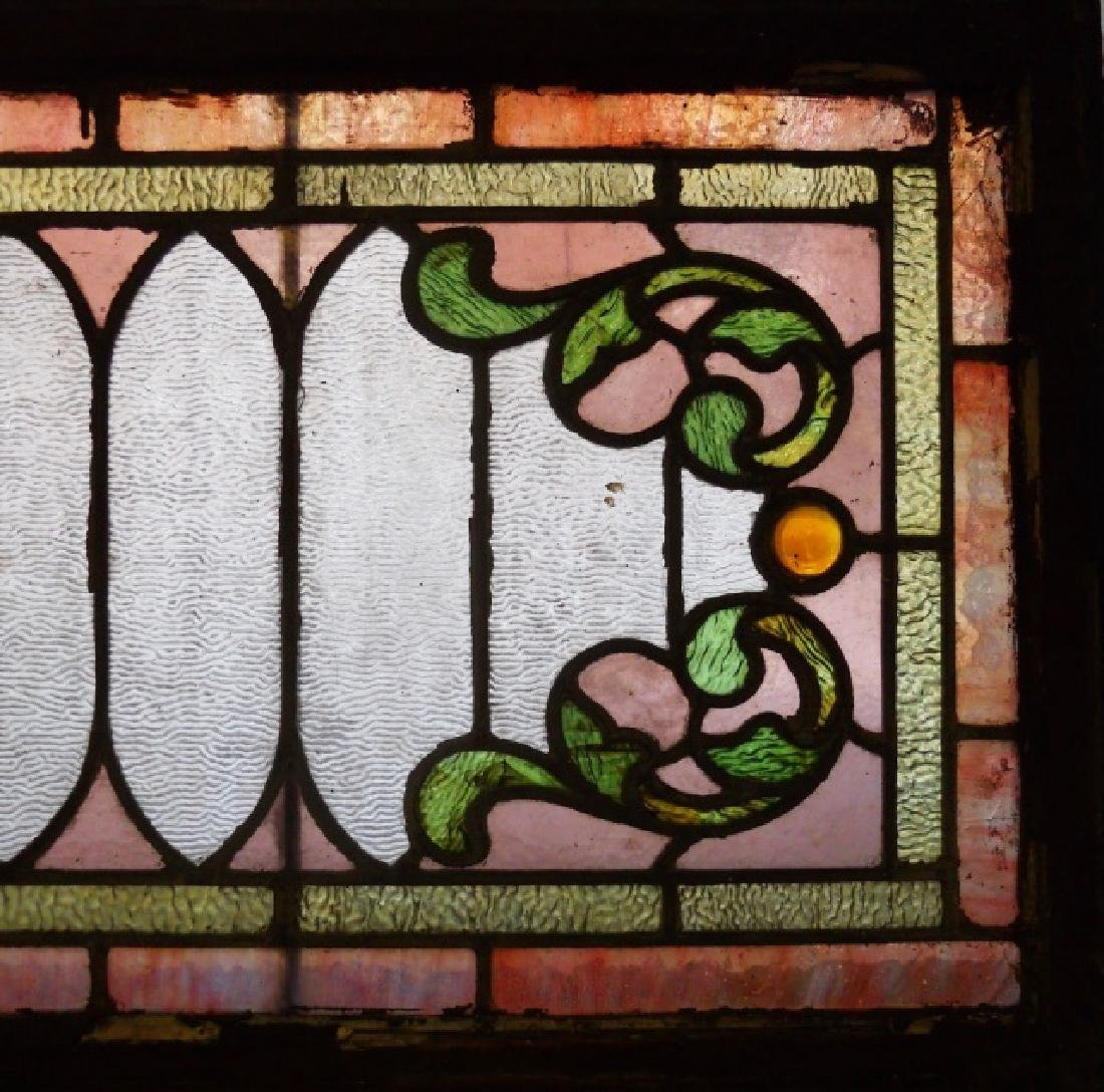 Antique Leaded Stained Glass Window, C. 1900 - 2