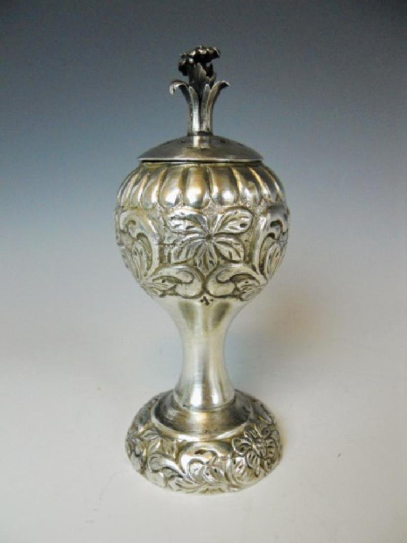Russian Silver Spice Box, 1885 Date with Hallmarks