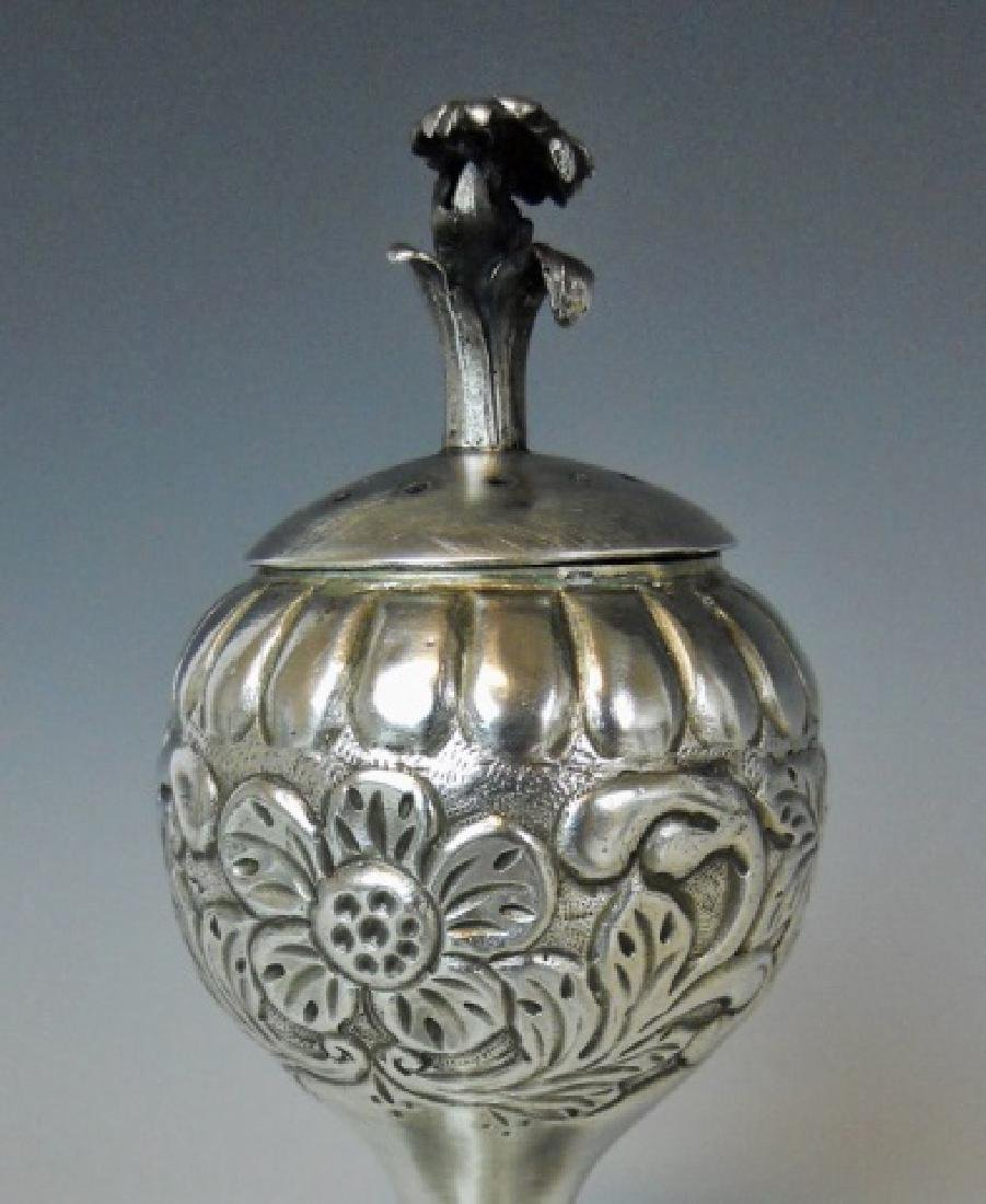 Russian Silver Spice Box, 1885 Date with Hallmarks - 2