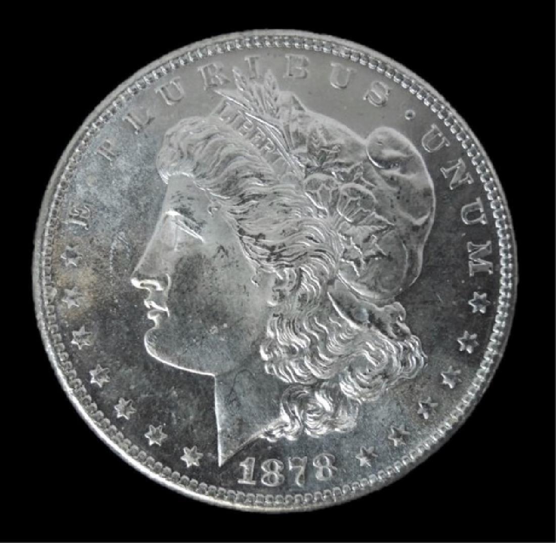 1878- S Morgan Silver Dollars BU, (2pc) - 2