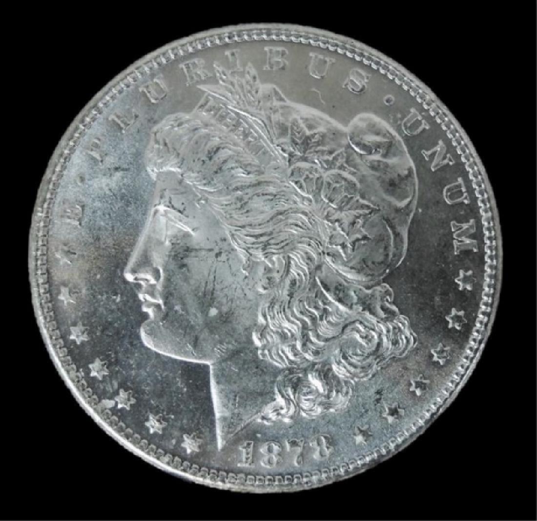 1878- S Morgan Silver Dollars BU, (2pc) - 4