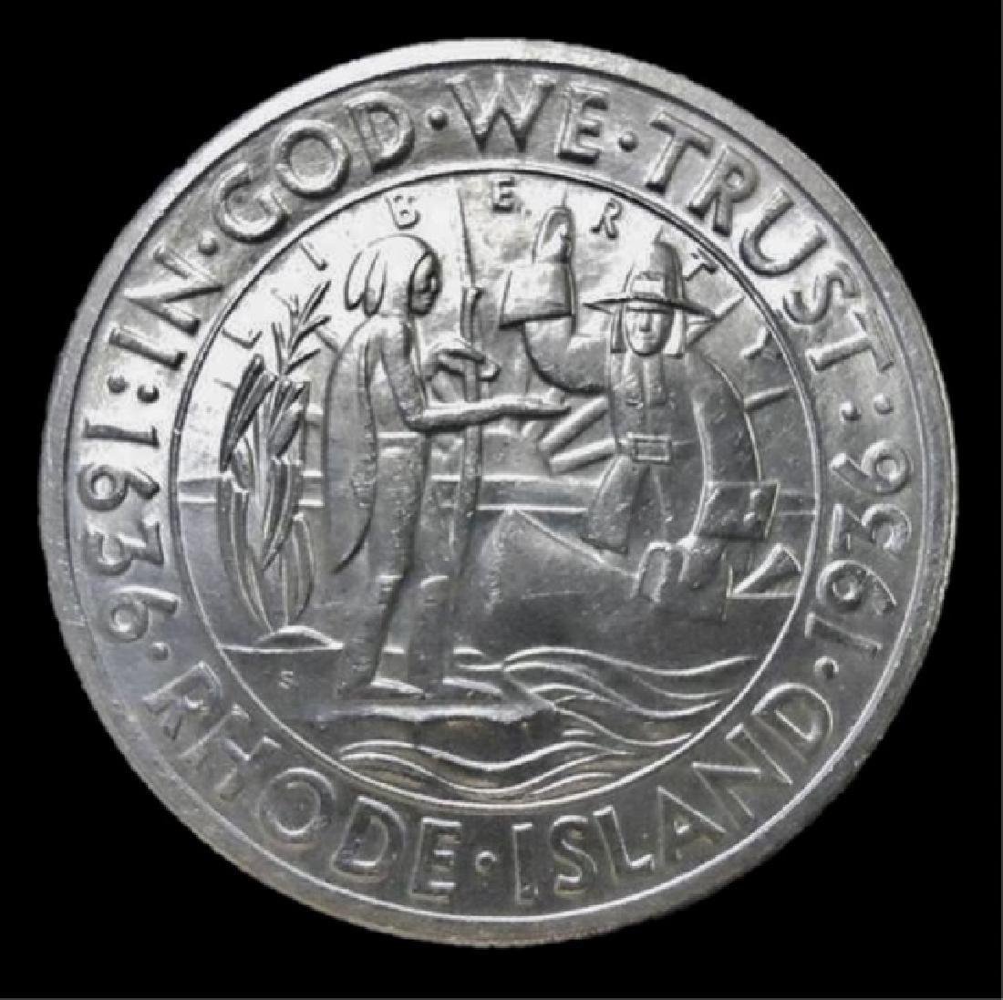 1936-S Rhode Island Commemorative Half Dollar, BU - 2