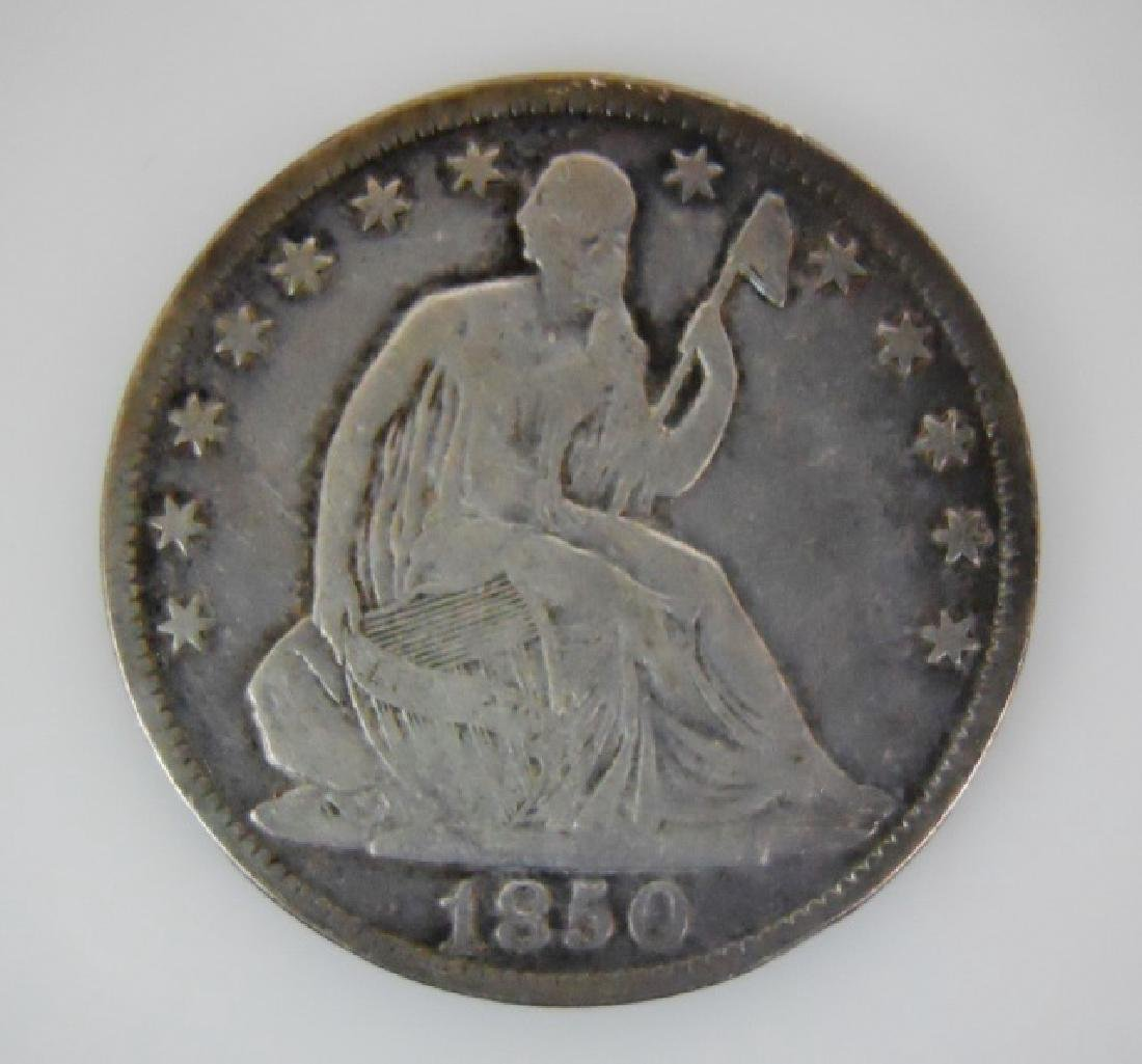 Two Seated Liberty Half Dollars, 1850-O, 1854 - 2