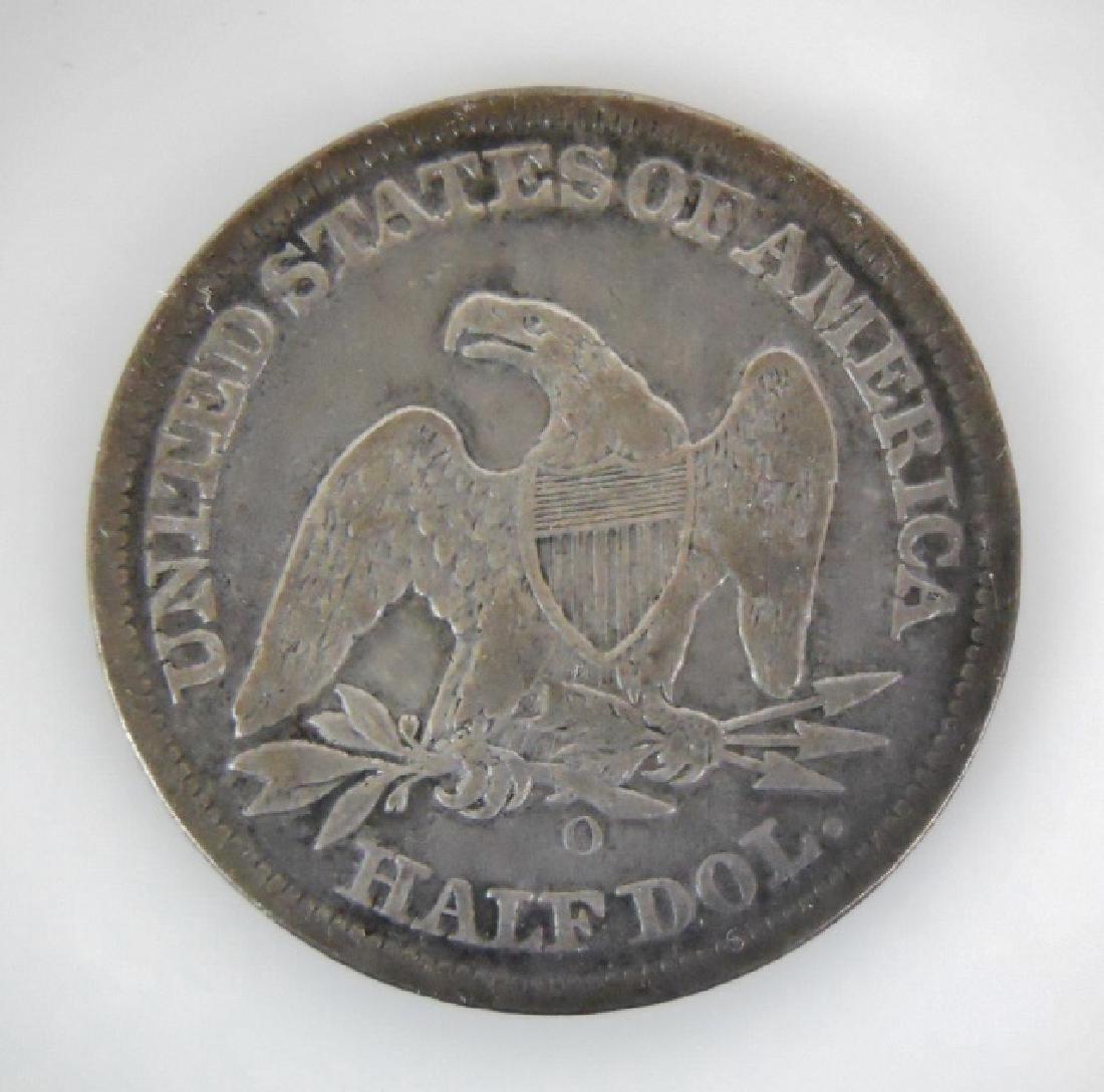Two Seated Liberty Half Dollars, 1850-O, 1854 - 3