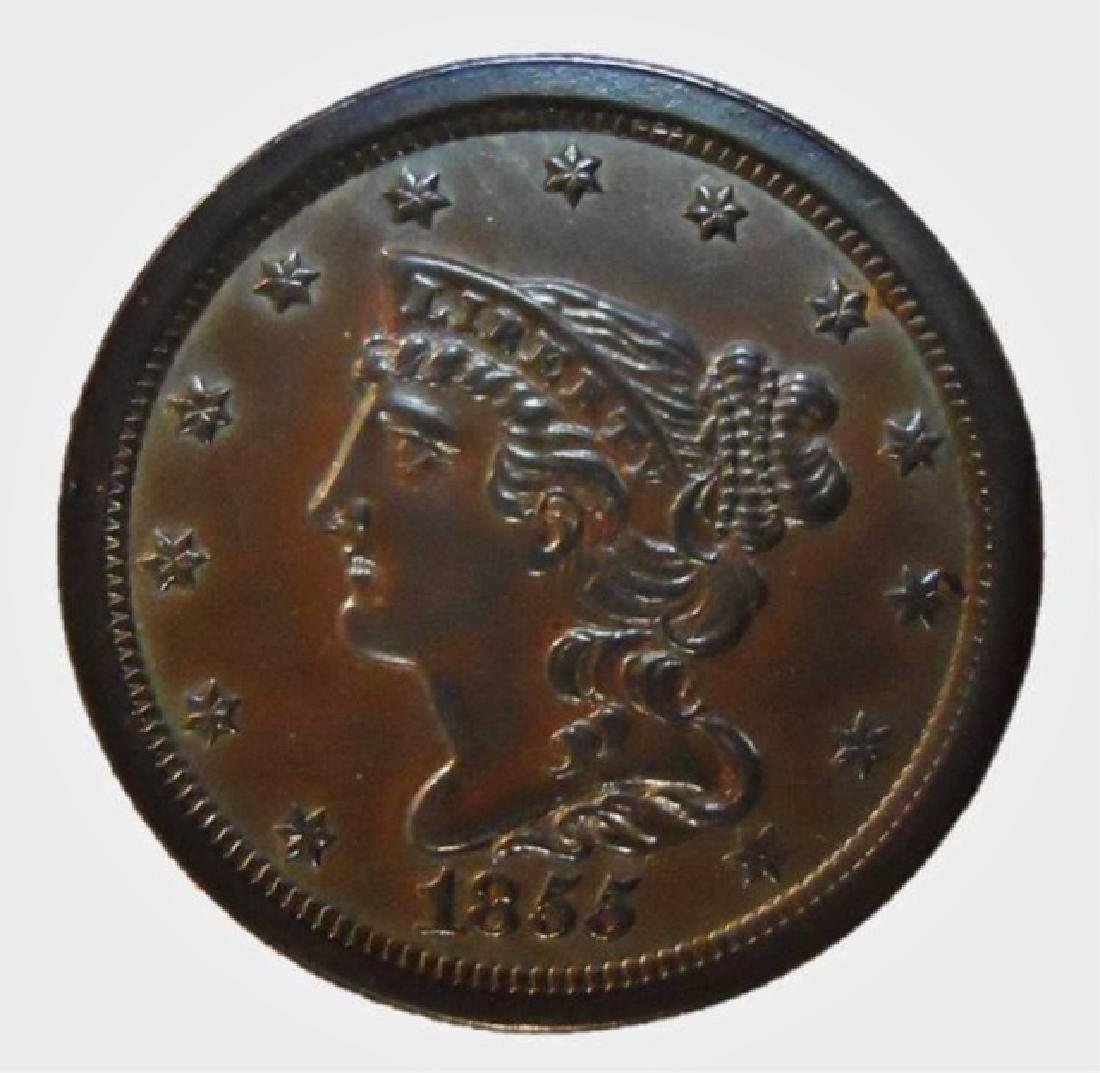 US 1855 Half Cent, Brilliant Uncirculated
