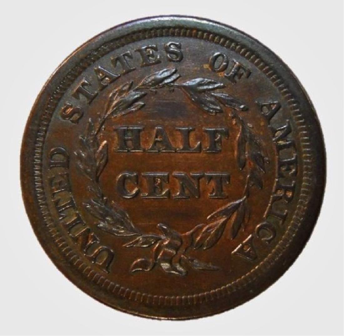 US 1855 Half Cent, Brilliant Uncirculated - 2