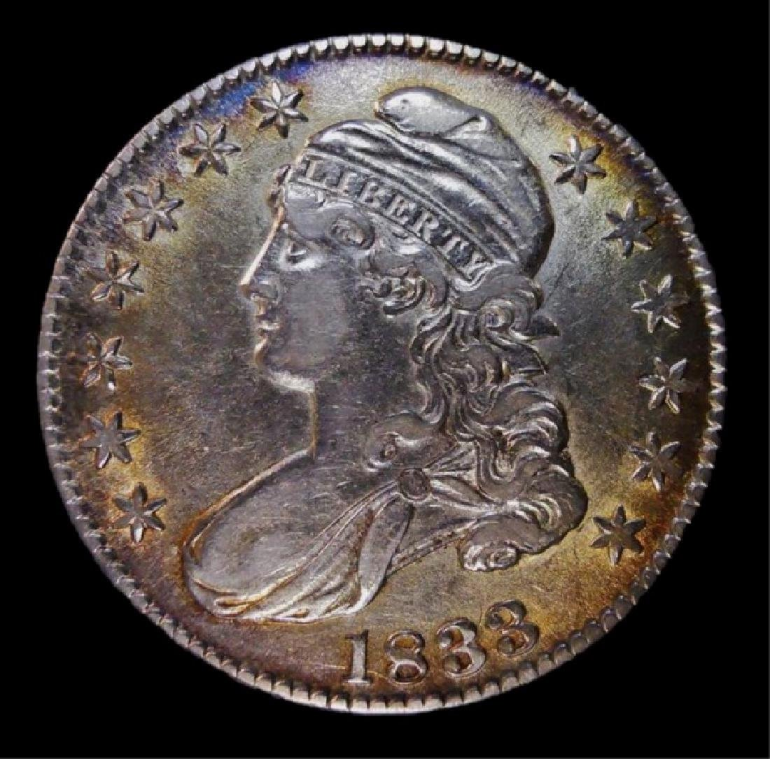 US 1833 Bust Silver Half Dollar