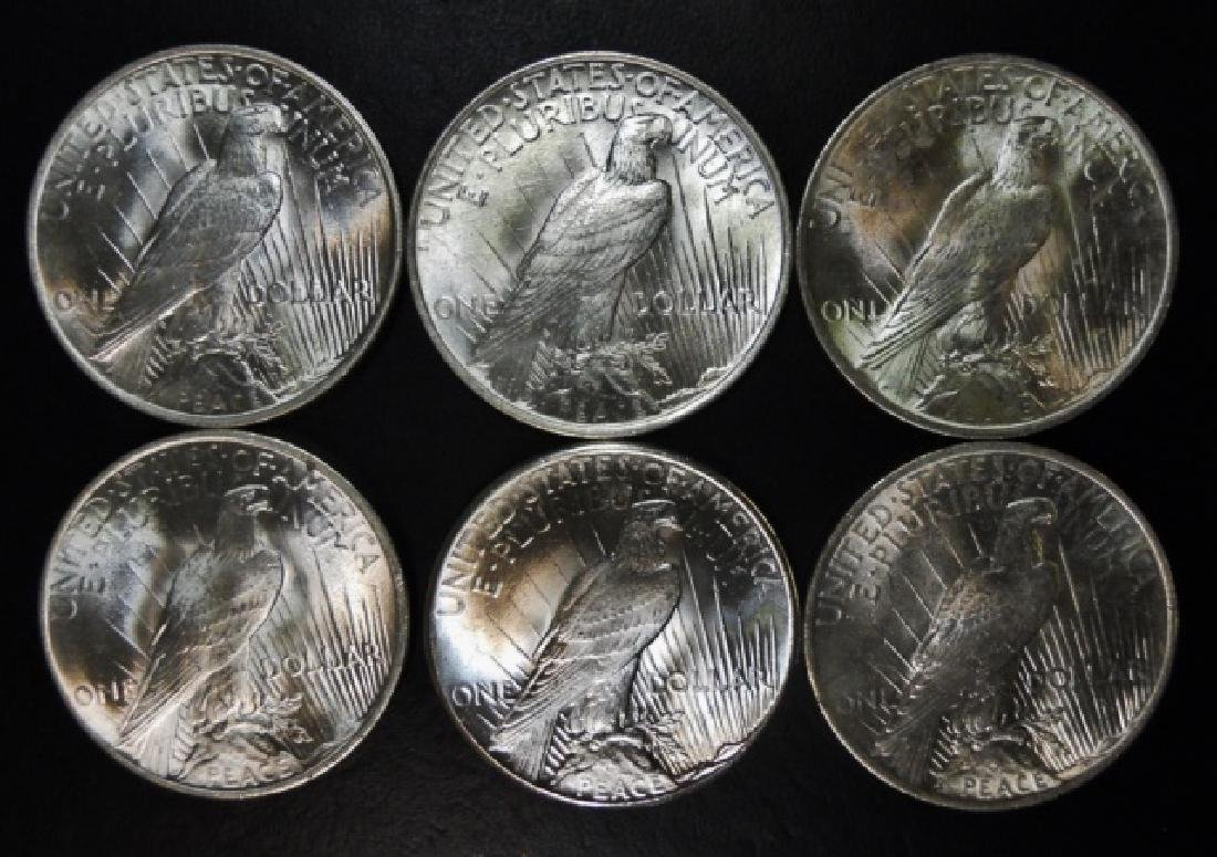 Collection, US Peace Silver Dollars, BU, (6pc) - 2