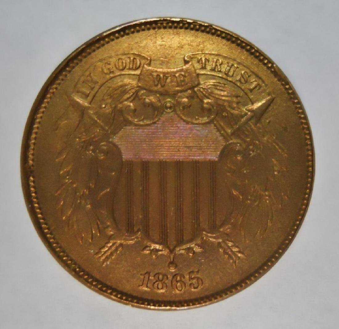 US 1865 Two Cent Piece, BU