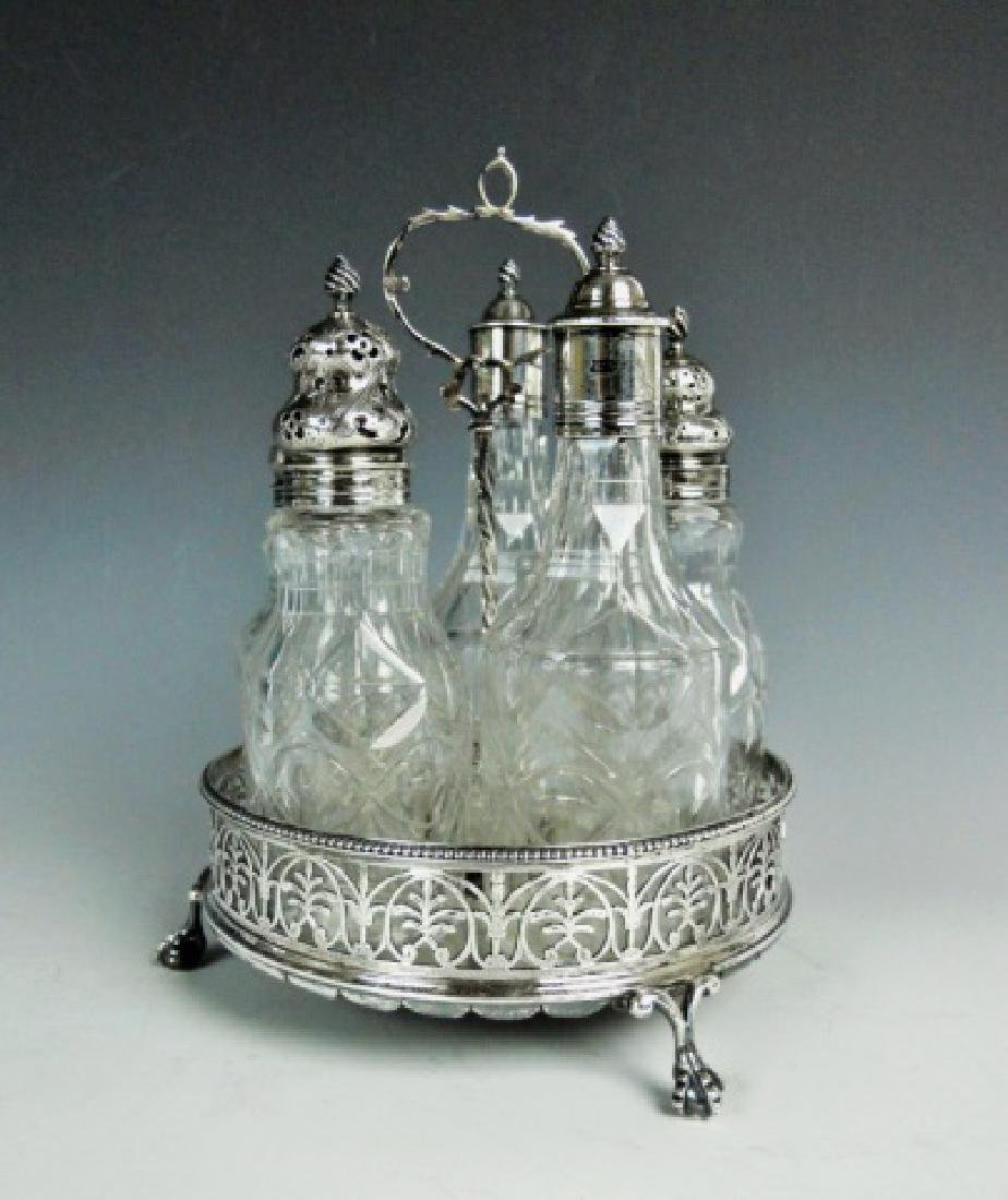 George III Silver Cruet Set, London, 1773