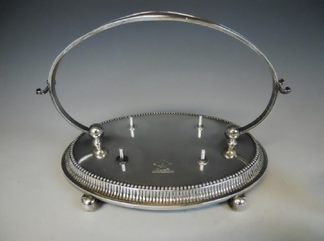 Victorian Silver Egg Cup Set  Charles Boynton 1889 - 3