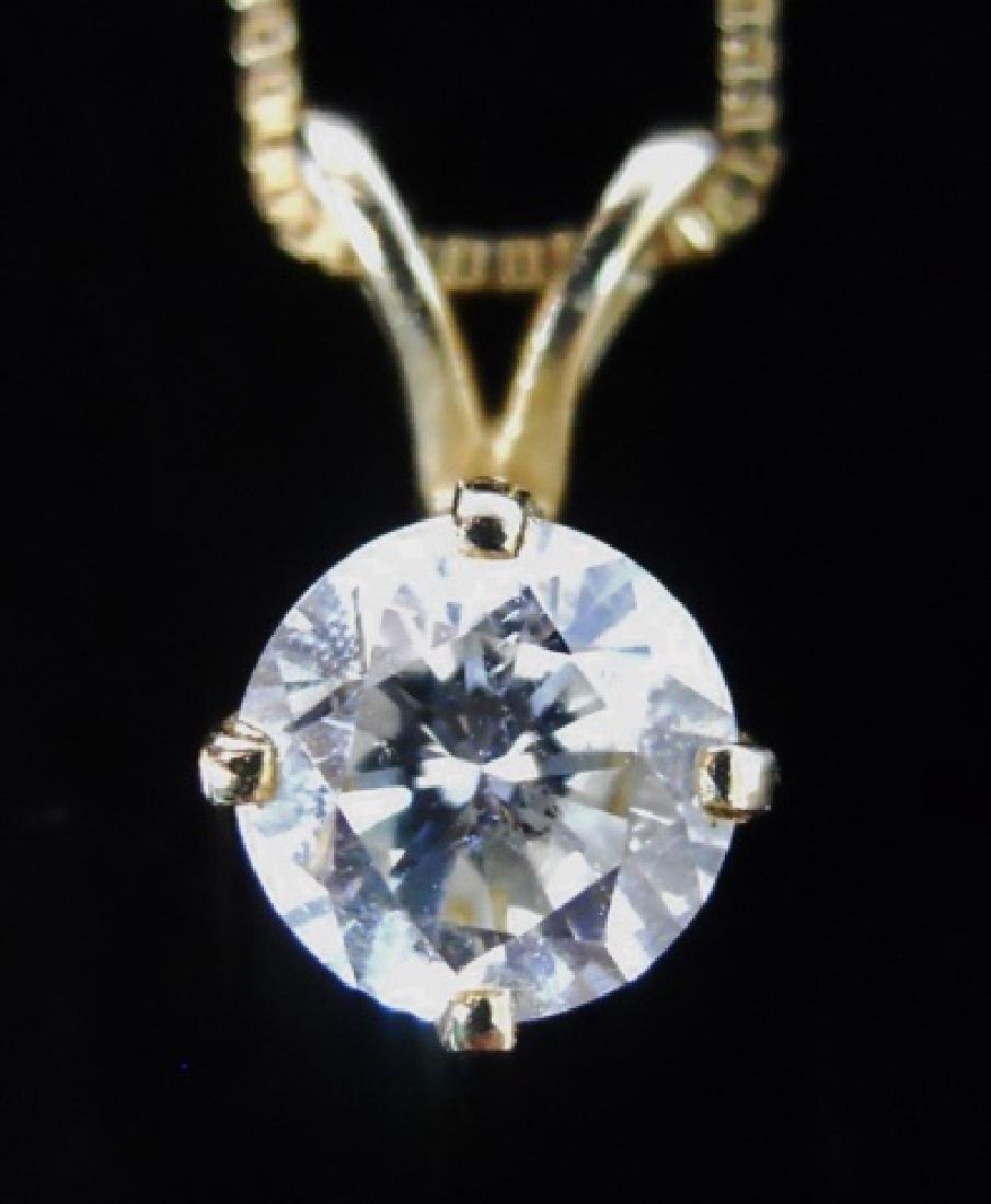 14K Gold Diamond Pendant with 14K Gold Chain