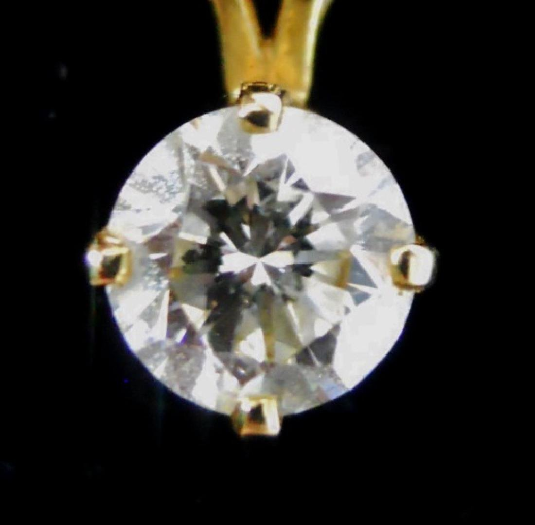 14K Gold Diamond Pendant with 14K Gold Chain - 2