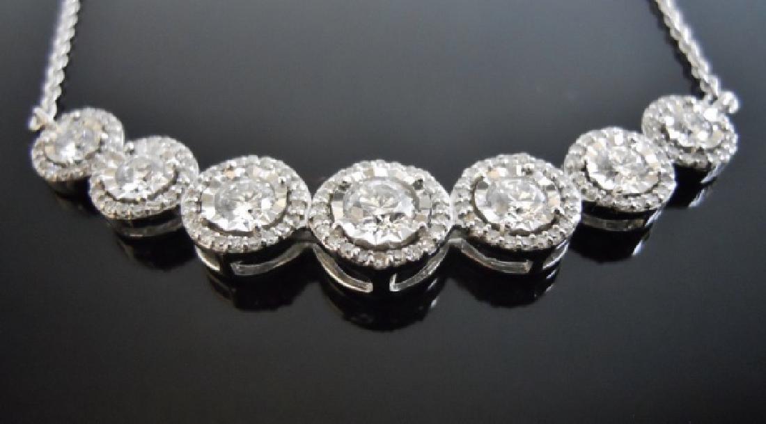 Ladies' 14K Gold, Seven Diamond Pendant