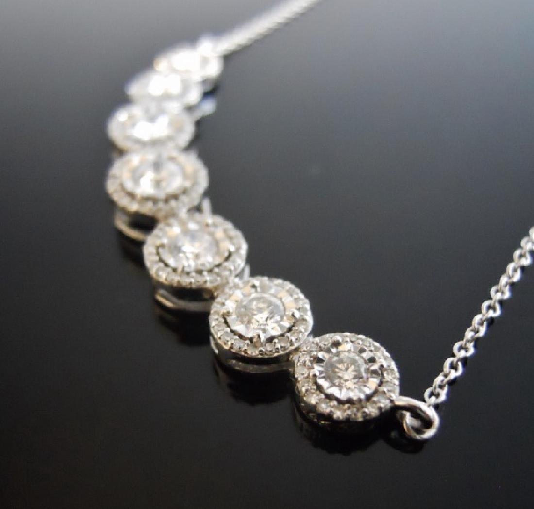 Ladies' 14K Gold, Seven Diamond Pendant - 3