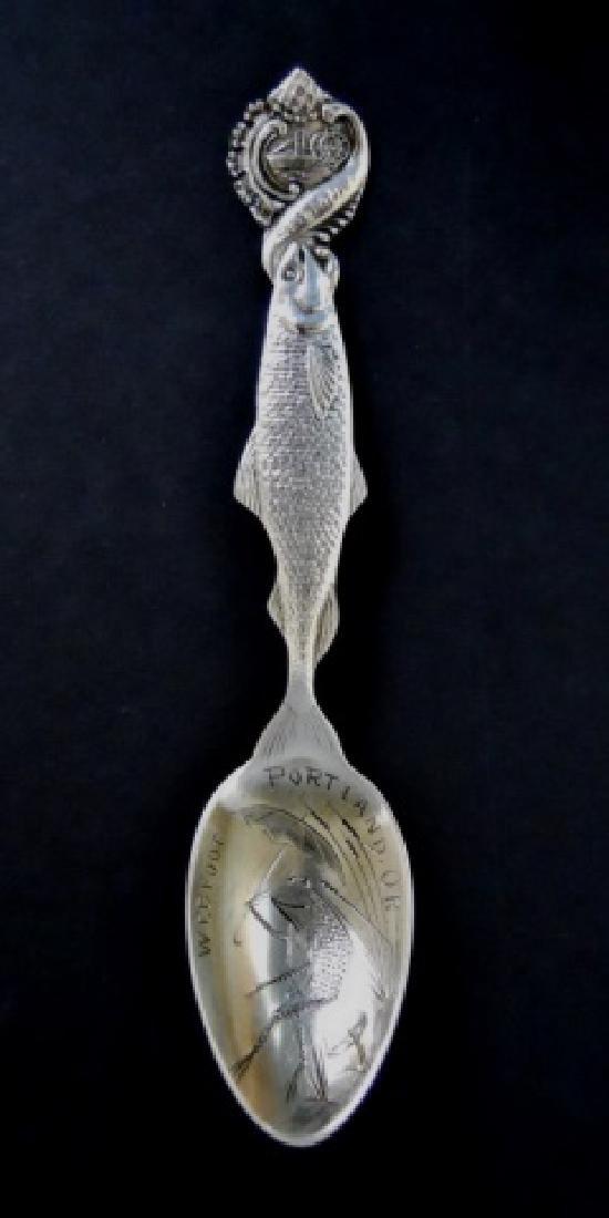 19th-20th C. Sterling Souvenir Spoons (27pc) - 5
