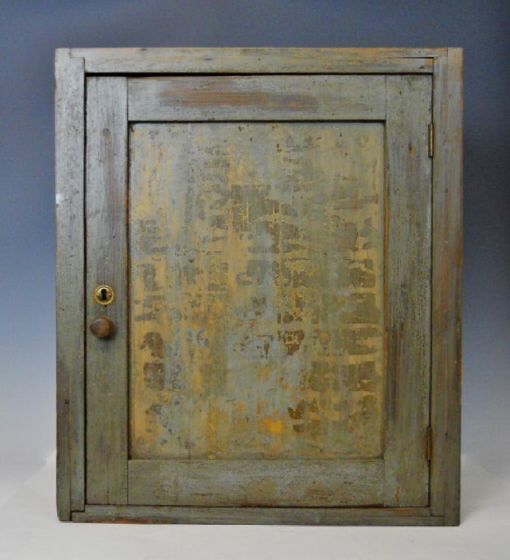 18th C. Wall Cabinet in Old Paint