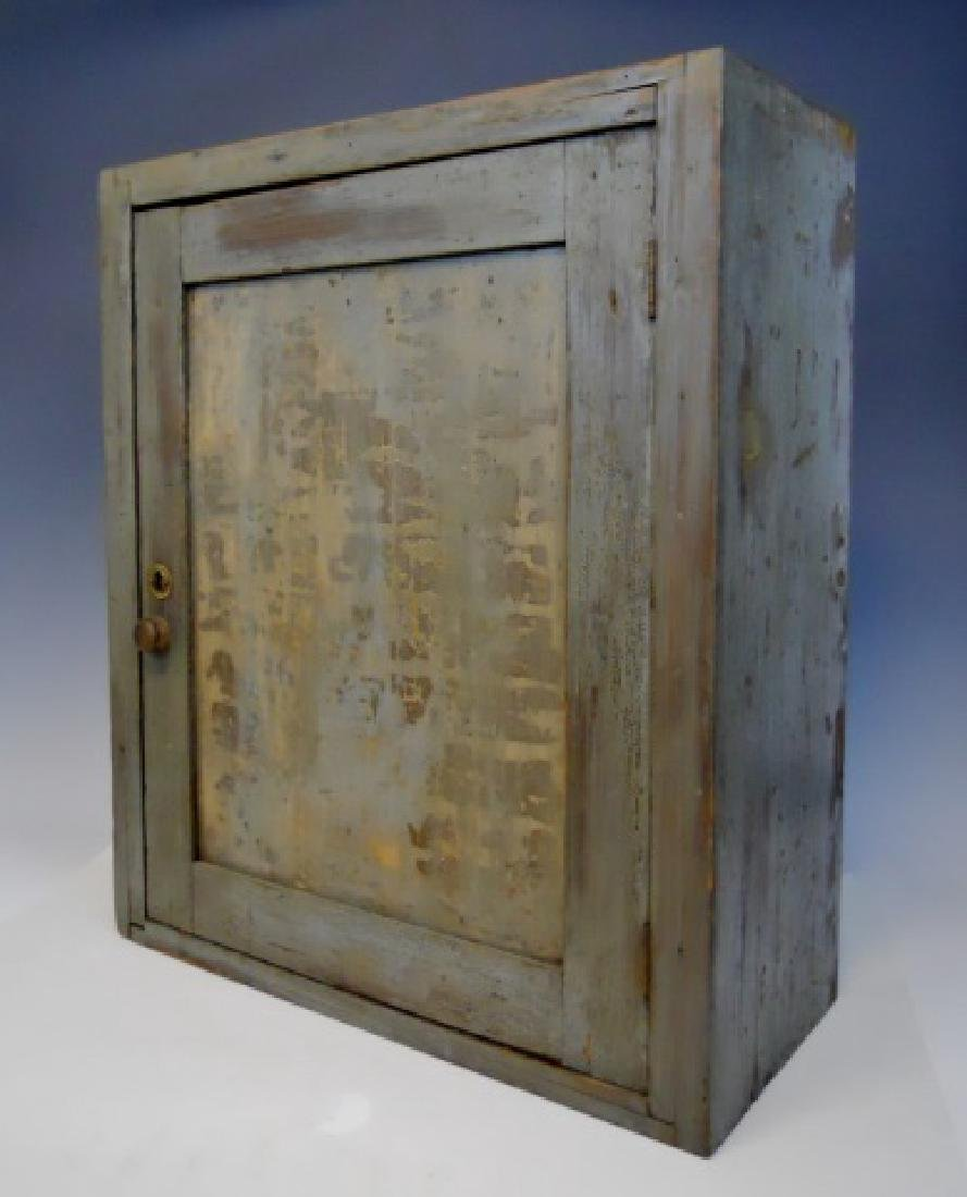 18th C. Wall Cabinet in Old Paint - 2