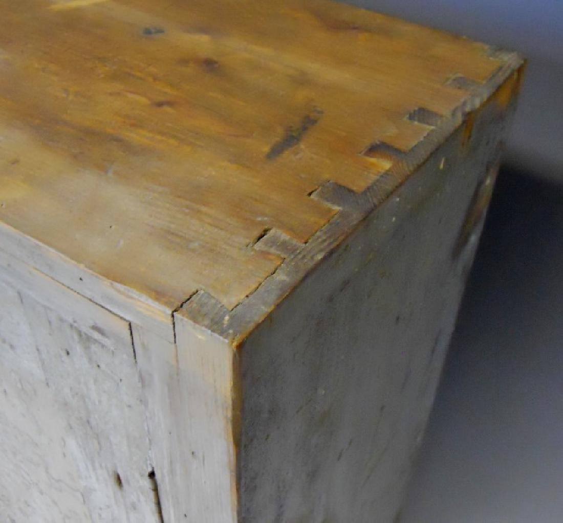 18th C. Wall Cabinet in Old Paint - 4