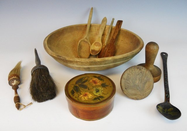 19th C. Kitchen Primitives (11pc)