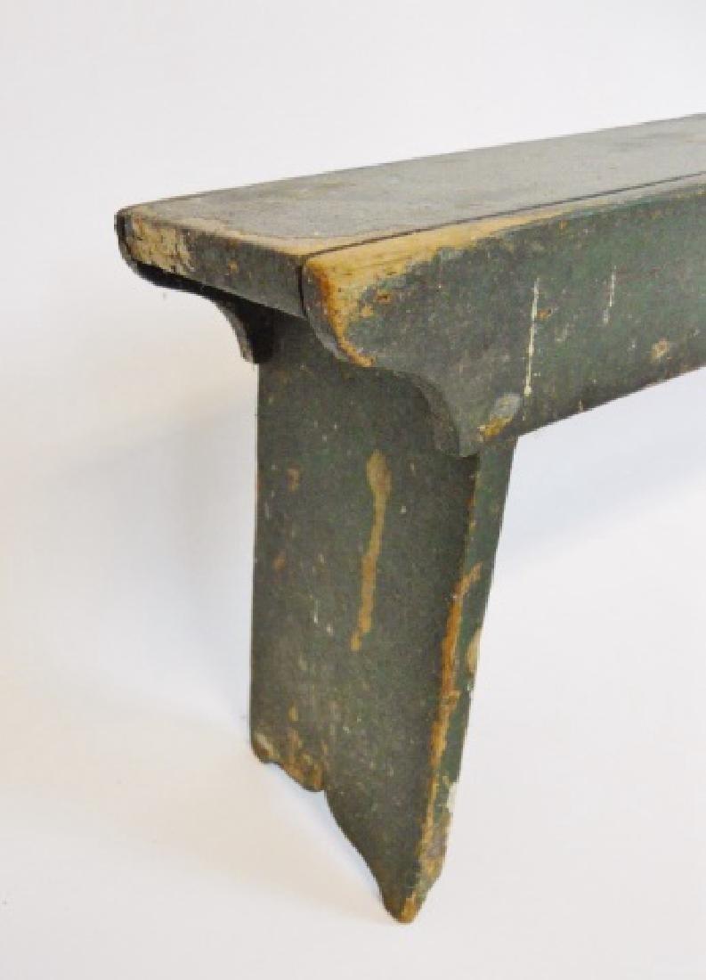19th C.  Primitive Stools, Cobbler's Bench (3pc) - 4
