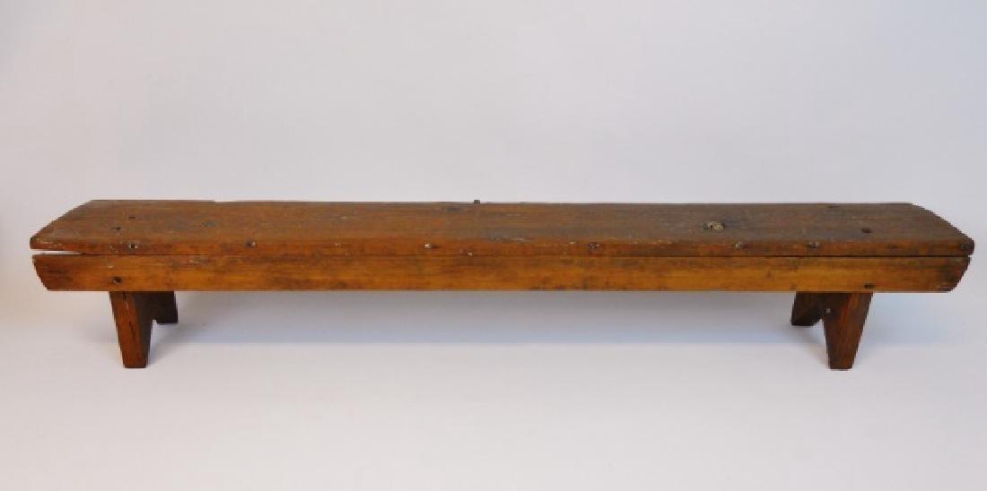 19th C.  Primitive Stools, Cobbler's Bench (3pc) - 5