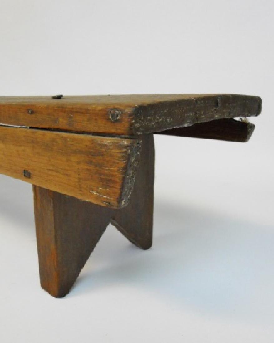 19th C.  Primitive Stools, Cobbler's Bench (3pc) - 6