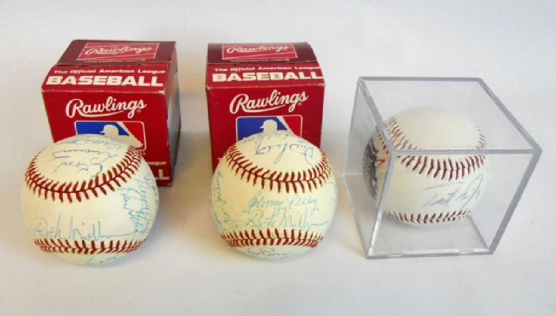 Red Sox Autographed Baseballs and Commemoratives