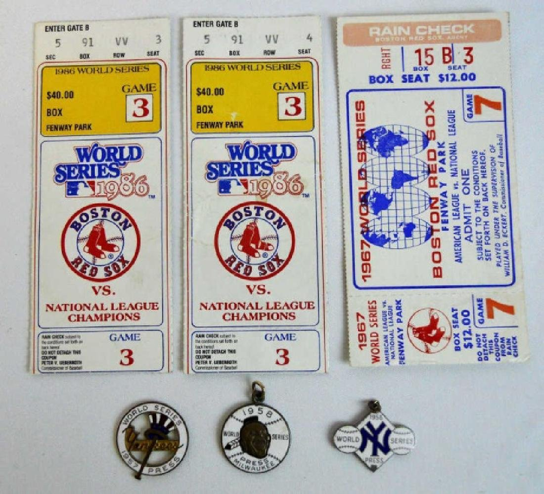 Baseball World Series Tickets, Press Pins (6pc)