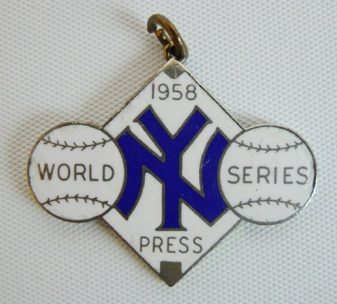 Baseball World Series Tickets, Press Pins (6pc) - 7