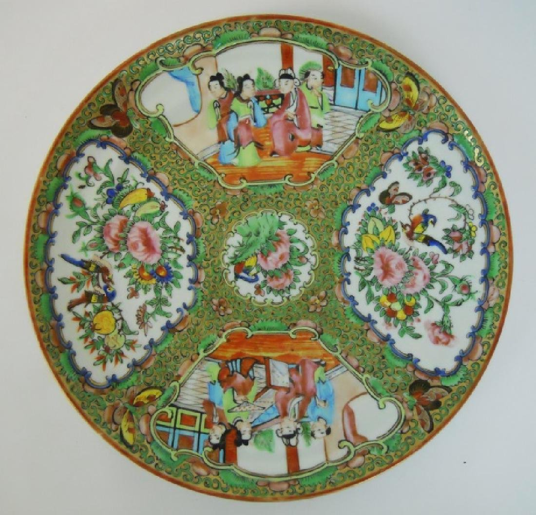 19th C. Chinese Rose Famille Plates (11 pc) - 2