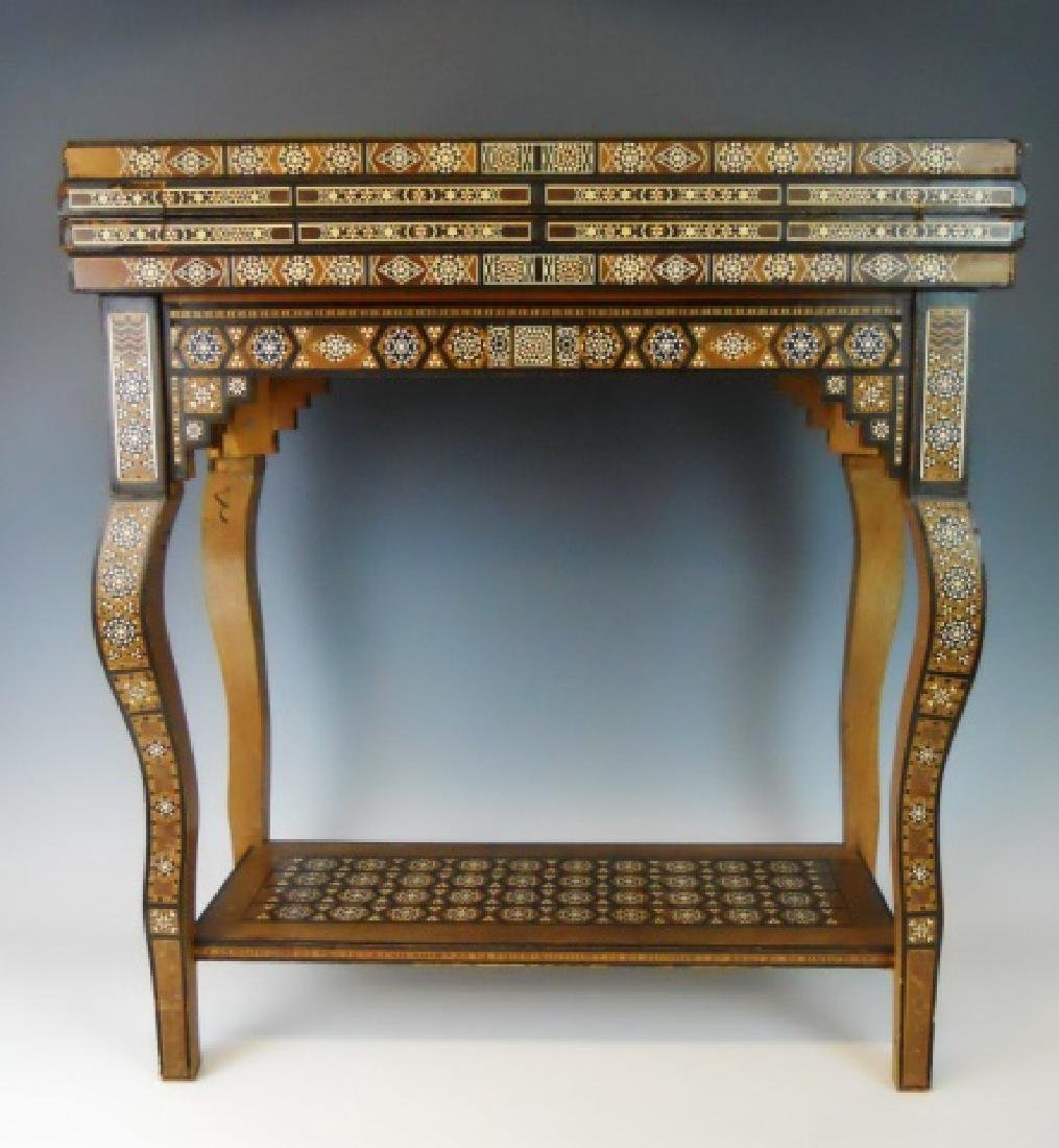 Syrian Parquetry Inlaid Game Table