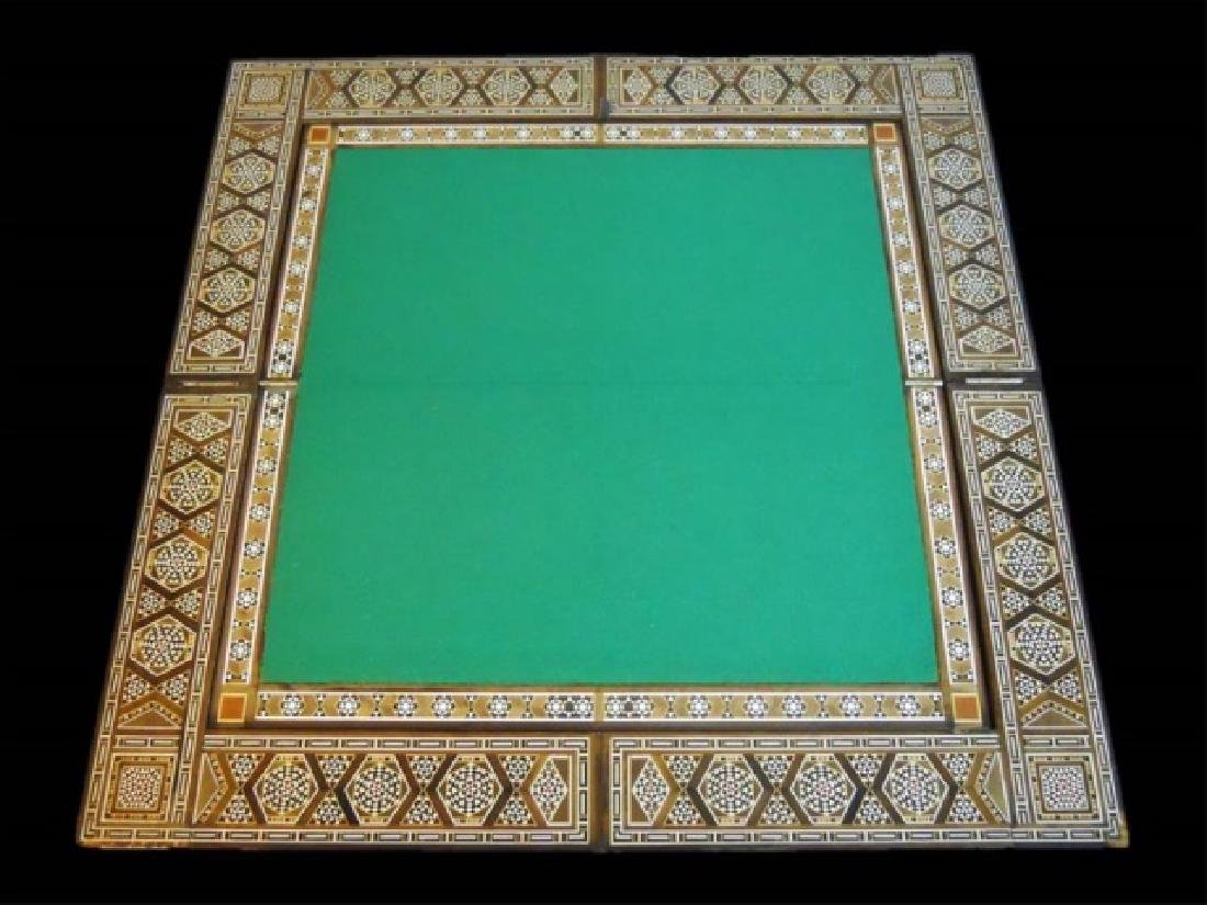 Syrian Parquetry Inlaid Game Table - 2