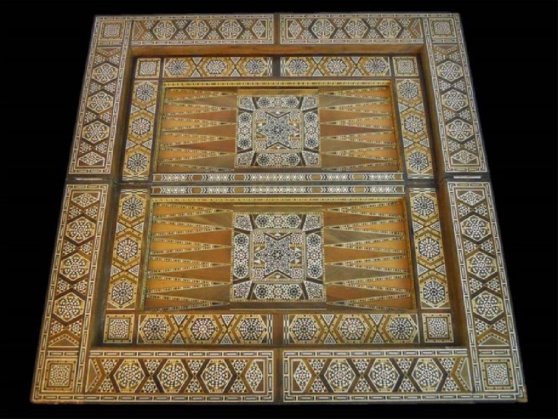 Syrian Parquetry Inlaid Game Table - 3