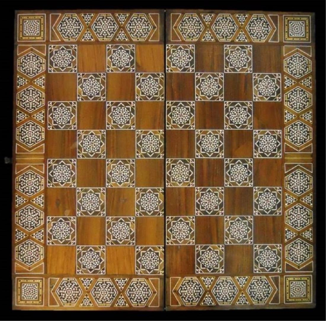 Syrian Parquetry Inlaid Game Table - 4