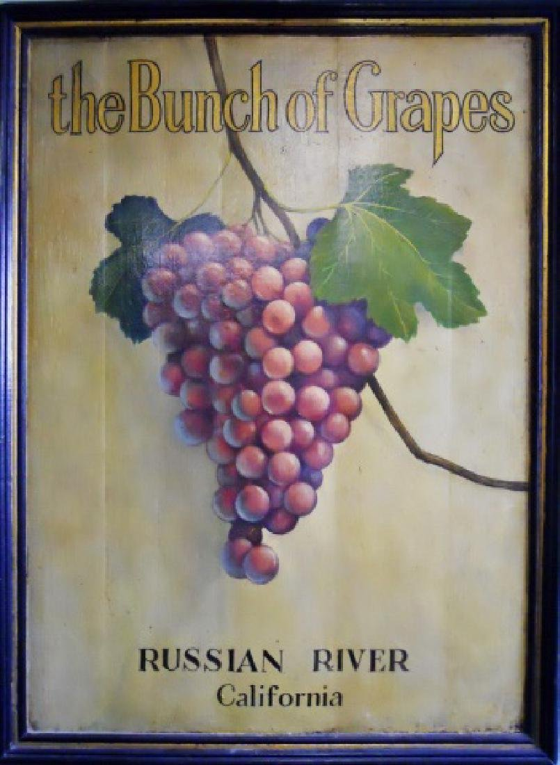 "Painted Trade Sign, ""Bunch of Grapes"""